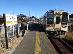 しばらく待っていると、伊勢奥津行きの列車がやってきた。