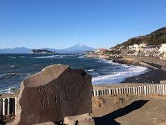 稲村ケ崎では絶景が広がっていました。