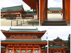 失礼ながら通り道に「平安神宮」があり、せっかくなので寄せて頂きます。 境内が広大だし、さすが堂々とした風格を感じますね。 でも訪れる人は、ほんのわずか…。