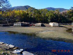 川の向こうに見えるのが対馬藩お船江跡。