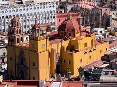 グアナファト大聖堂 グアナファトのシンボル 1671~1696年の間に建てられたバロック様式の教会でオレンジ色の外観と赤いドームが特徴 2つの尖塔がそれぞれ別のデザインというのも特徴