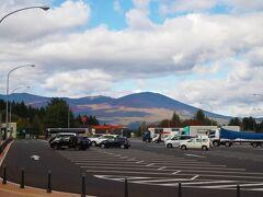 岩手山サービスエリア 岩手山が見えるサービスエリアなんですが、、、