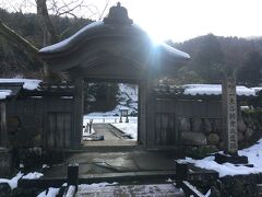 朝イチで山際にある一乗谷朝倉氏遺跡を訪ねます。