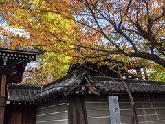 極楽寺さん 庭の木々も色付いてました。