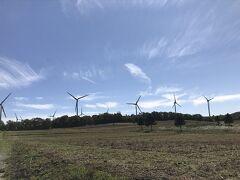 遠くからでも見える風力発電、こんなところがあるなんて全く知らず 急ぐ旅でもないので寄ってみました。