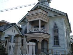 高梁基督教会  プロテスタントの教会で、県内最古のものです。 武家屋敷よりこっちのほうが好み。