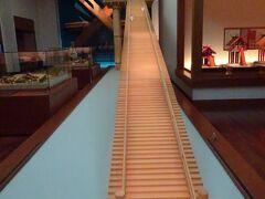 昔の巨大だったという出雲大社の模型の展示