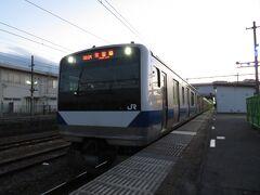 2020.12.26 友部 常磐線の中電に乗り換え…