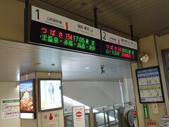 秋田駅と似た感じの、乗車の仕方だ。ホームのところにも改札があった