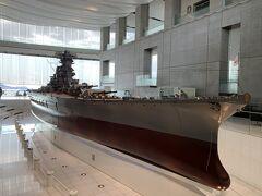 戦艦大和の模型です。 戦争時の話を残っている語り部たちが映像で見る事ができてずっと見入ってしまいました。 本当に平和の尊さを実感した広島旅です。