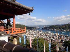 806年創建と伝えられる真言宗寺院「千光寺」  舞台づくりの本堂からは瀬戸内海が一望。 ここもまた素敵な風景です。