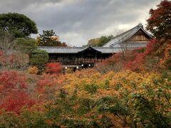 京阪電車を使って、8時前に東福寺に到着。まもなく開門となったのだが、通天橋庭園の前で入園待ちの行列ができる。