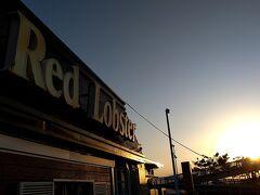 少し早いですが、海岸沿いのRed Lobsterで夕食を摂るコトにします。。