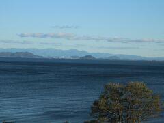 15:15頃、琵琶湖が見えてきて・・