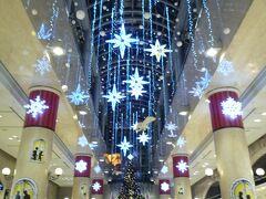 ディアモール大阪で、ブライトクリスマスの綺麗なクリスマスの飾りつけを楽しむ