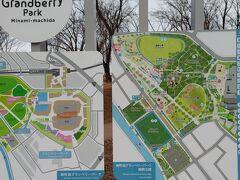 今日のゴールの南町田駅に至る「鶴間公園」。た親子連れの憩いの場。スケボーもOKの様でした。