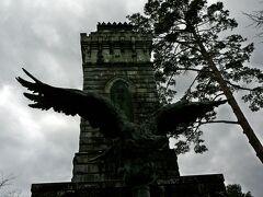 まずは青葉城跡へ・・伊達政宗の近くにあり震災後に行ったとき落ちていた鳥の像も 復活?されて下に建てられていました・・