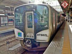 3日目は石巻へ・・初めて 震災後にできた 東北本線から松島あたりで仙石線に移る仙石東北ラインに乗りました・・ハイブリットの気動車です・・