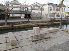 美観地区の水路は倉紡製品の原綿を積み降ろししていた場所でもあります。