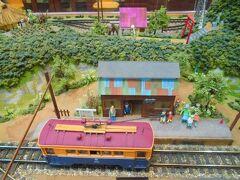 秋保里センターに行きました。 秋保電鉄を模した鉄道模型があります。