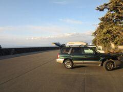 「黄金崎」から戸田にある「御浜岬公園」にやって来ました 「黄金崎」から「御浜岬公園」は国道136号線と県道で28km程の道のり