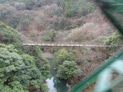 沿線のハイライト。 早川橋梁(出山の鉄橋)全長61mを渡ります。