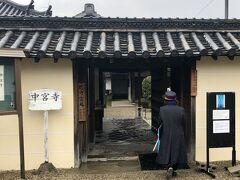 中宮寺は、法隆寺に隣接する、創建時以来の尼寺で、観光バスのガイドさんに連れられ、法隆寺から、そのまま出入りできました。