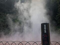 血の池地獄は、日本で一番古い天然の地獄で、「赤い熱泥の池」です。