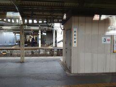 昔夜行列車で着いた駅だ。ながらではない、臨時のかぼちゃ電車でした。