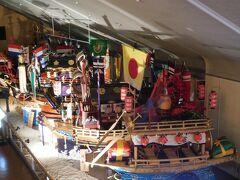 「長崎伝統芸能館」 グラバー園内を見学し終え、出口に向かう前に必ず通るようになっている施設です。長崎のお祭り「長崎くんち」で使用される龍踊りの飾りなどが展示されていました。