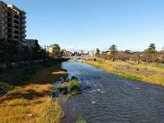 街中を流れる川ですが清らかな川でした