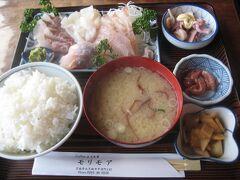 2012年3月に喫茶店モリモアでいただいた地魚の刺身定食の写真。これがまた食べたかったのだけど、残念ながら臨時休業で食べられず。