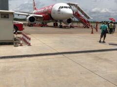 ウドーン・ターニー空港。さよならウドーン・ターニー。エアアジアでバンコクに帰ります。