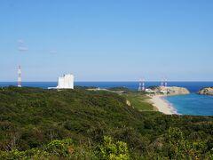それでも「ロケットの丘展望所」に寄ってもらい、北東方向にある[「大崎射場」と「吉信射場」をさっと眺めました。