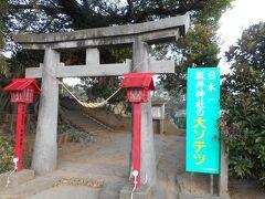 16:55、坂井神社に着きました。千座の岩屋へ行く時に前を通っていました。