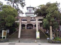 尾山神社まで徒歩移動