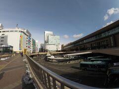 おはようございます。 いつもの仙台駅。今日は広角で撮ってみました。 仙台は雪なし。快晴。