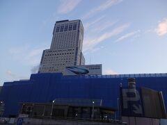 札幌に到着!! バスが待ってるのは繁華街とは反対側のようです