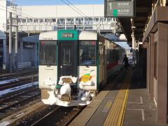 15時11分、小牛田に到着。 帰りの列車は「バカ停」がないのでちょうど1時間でした。