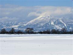 磐梯山が綺麗な姿を見せてくれています。