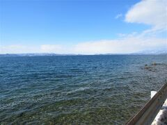 今日も美しい猪苗代湖です。