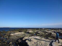 海波打ち際は岩がいっぱい。