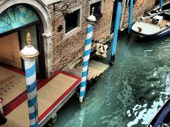 ホテル・コロンビーナの運河出入り口。