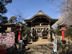 江島神社3宮の3つめ、一番奥にある奥津宮の本殿。