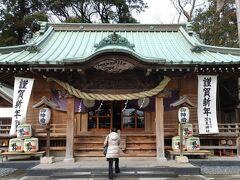 歩行3回目は1月24日。大和に車を停めてから行ったのは「深見神社」