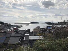 鞆城跡からの、鞆の港の眺め。