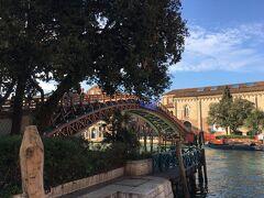 サンマルコ広場から約15分、アカデミア橋まで来ました ヴェネツィア唯一の木製の橋 橋の向こうに見えるのがアカデミア美術館