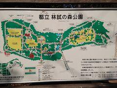 河津桜の開花状況を見に林試の森公園に来ました。 河津桜は広い公園の東側(地図の右側)の芝生広場に植えられています。