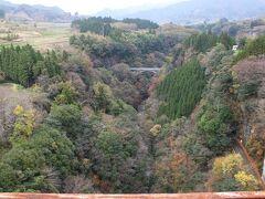 あまてらす鉄道 スーパーカートは高千穂鉄橋の上で、暫し停止しました。