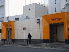 ●大阪メトロ 瑞光四丁目駅  駅に戻ってきました。 新しい大阪メトロ今里筋線は、入口がオレンジに統一されています。 他線の大阪メトロの出入り口は、殺風景なので、わかりやすく良いと思います。